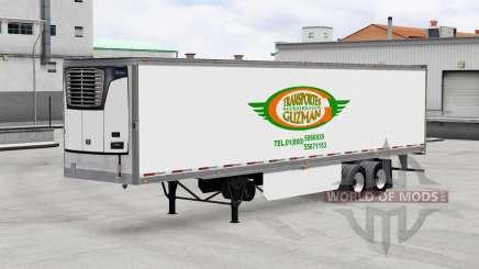 Uma coleção de skins para reboques para American Truck Simulator