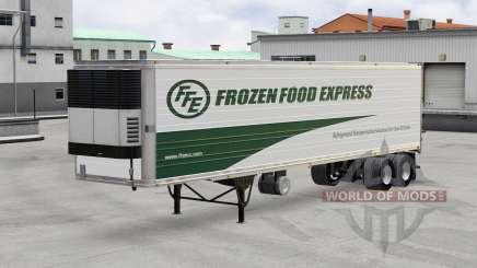 Pele Madeira Congelada Express no trailer para American Truck Simulator