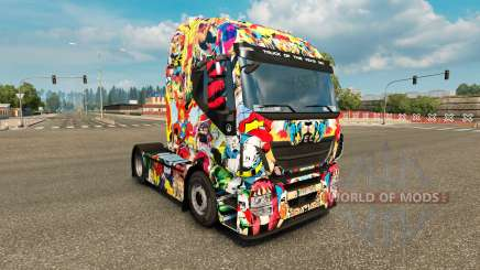 Pele Universo Marvel no caminhão Iveco para Euro Truck Simulator 2
