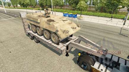 Semi transportar equipamento militar v1.6 para Euro Truck Simulator 2