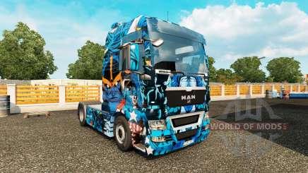 Pele de Heróis Marvel no caminhão HOMEM para Euro Truck Simulator 2