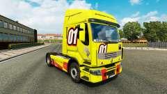 Corrida Amarelo pele para a Renault Premium cami