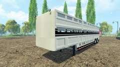 Semi-reboque para transporte de animais para Farming Simulator 2015
