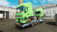 Semi-reboque-portador de carro com caminhões de