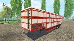 Semi-reboque-gado transportadora para Farming Simulator 2015