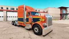 Vintage pele para o caminhão Peterbilt 389