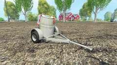 Carreta com tanque de leite para Farming Simulator 2015