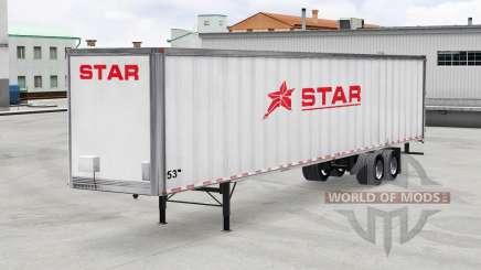 Pele Estrelas De Transporte Inc. no trailer para American Truck Simulator