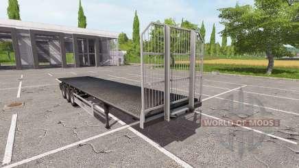 Semi-reboque-Fliegl plataforma para Farming Simulator 2017