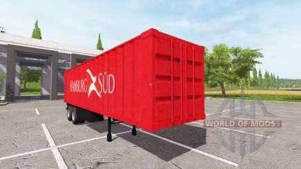 Semi-reboque-recipiente de caminhão para Farming Simulator 2017