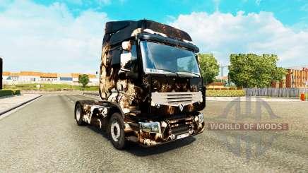 Pele de Terror a Noite em uma unidade de tracionamento Renault Premium para Euro Truck Simulator 2