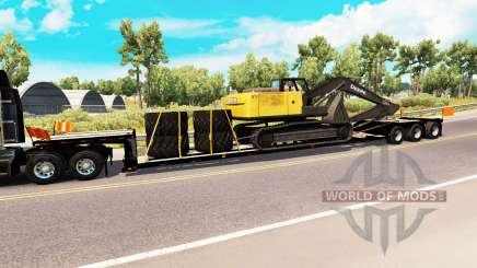 Baixa varrer com a carga de escavadeira para American Truck Simulator