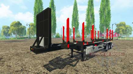 Huttner madeira trailer para Farming Simulator 2015