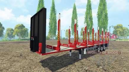 Semi-reboque Kogel madeira para Farming Simulator 2015