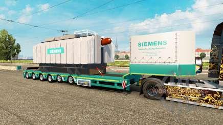 Baixa varrer com a carga do transformador Siemens para Euro Truck Simulator 2