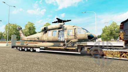 Baixa varrer com um helicóptero de carga para Euro Truck Simulator 2