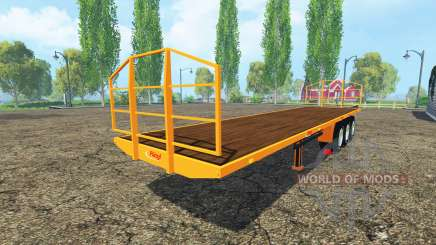 Semi-reboque-Fliegl plataforma para Farming Simulator 2015