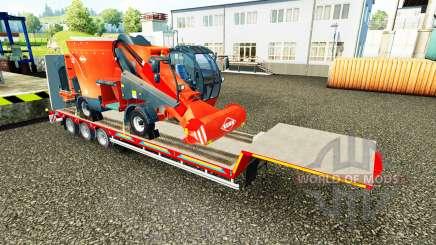 Baixa varrer com uma carga de máquinas agrícolas para Euro Truck Simulator 2
