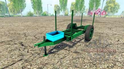 Rústico de madeira trailer para Farming Simulator 2015