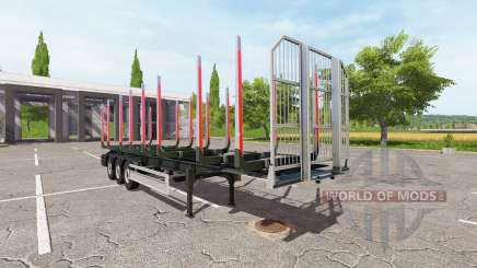 Semi-reboque Fliegl madeira para Farming Simulator 2017