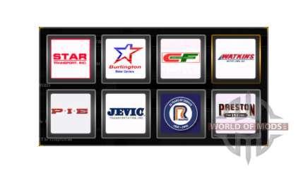 Logotipos da empresa Estados Unidos para American Truck Simulator