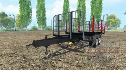 Madeira trailer BRANTNER para Farming Simulator 2015