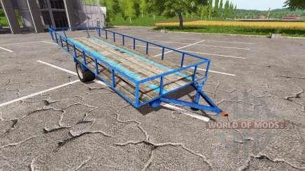 Reboque para transporte de madeira v0.5 para Farming Simulator 2017