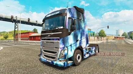 Pele de Espaço Natureza em um caminhão Volvo para Euro Truck Simulator 2