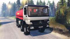 Mercedes-Benz Actros (MP2) 8x8 v1.0 para Spin Tires
