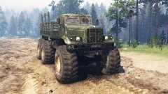 KrAZ 255 HESV para Spin Tires