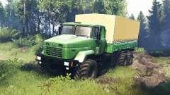KrAZ 63221 v5.0 para Spin Tires