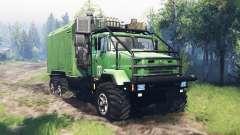 KrAZ 63221 v4.0 para Spin Tires
