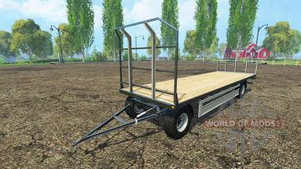 Fliegl bales trailer para Farming Simulator 2015