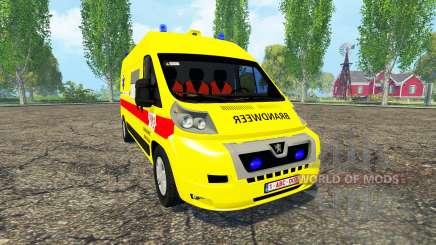 Peugeot Boxer Belgian Ambulance para Farming Simulator 2015