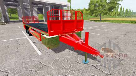 Platform bales trailer para Farming Simulator 2017