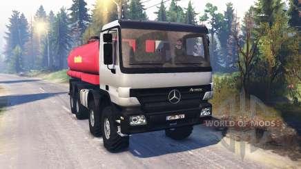 Mercedes-Benz Actros (MP2) 8x8 v1.0 para Spin Tires