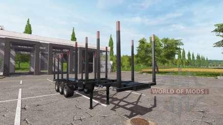 Doepker log trailer v1.1.0.1 para Farming Simulator 2017