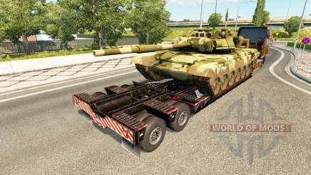 Semi transportar equipamento militar v1.7 para Euro Truck Simulator 2