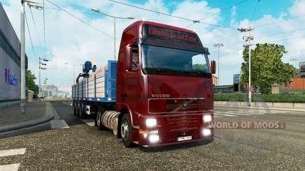 Uma coleção de caminhão de transporte de e para o tráfego de v2.1 para Euro Truck Simulator 2