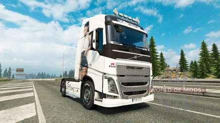 Antonia pele para a Volvo caminhões para Euro Truck Simulator 2