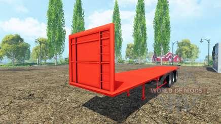 Semi-trailer platform para Farming Simulator 2015