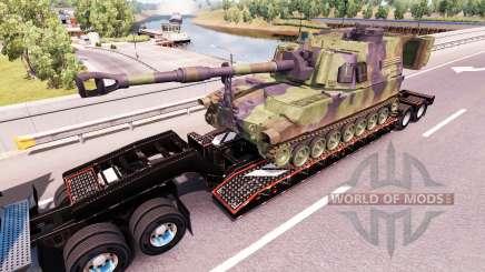 Semi transportar equipamento militar v1.0.1 para American Truck Simulator