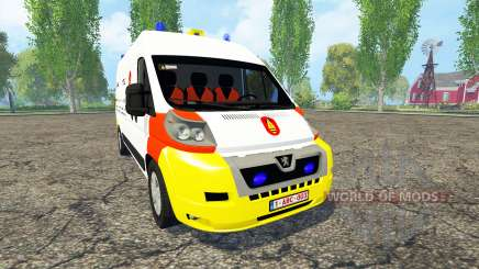Peugeot Boxer Belgian Bomb Squad para Farming Simulator 2015