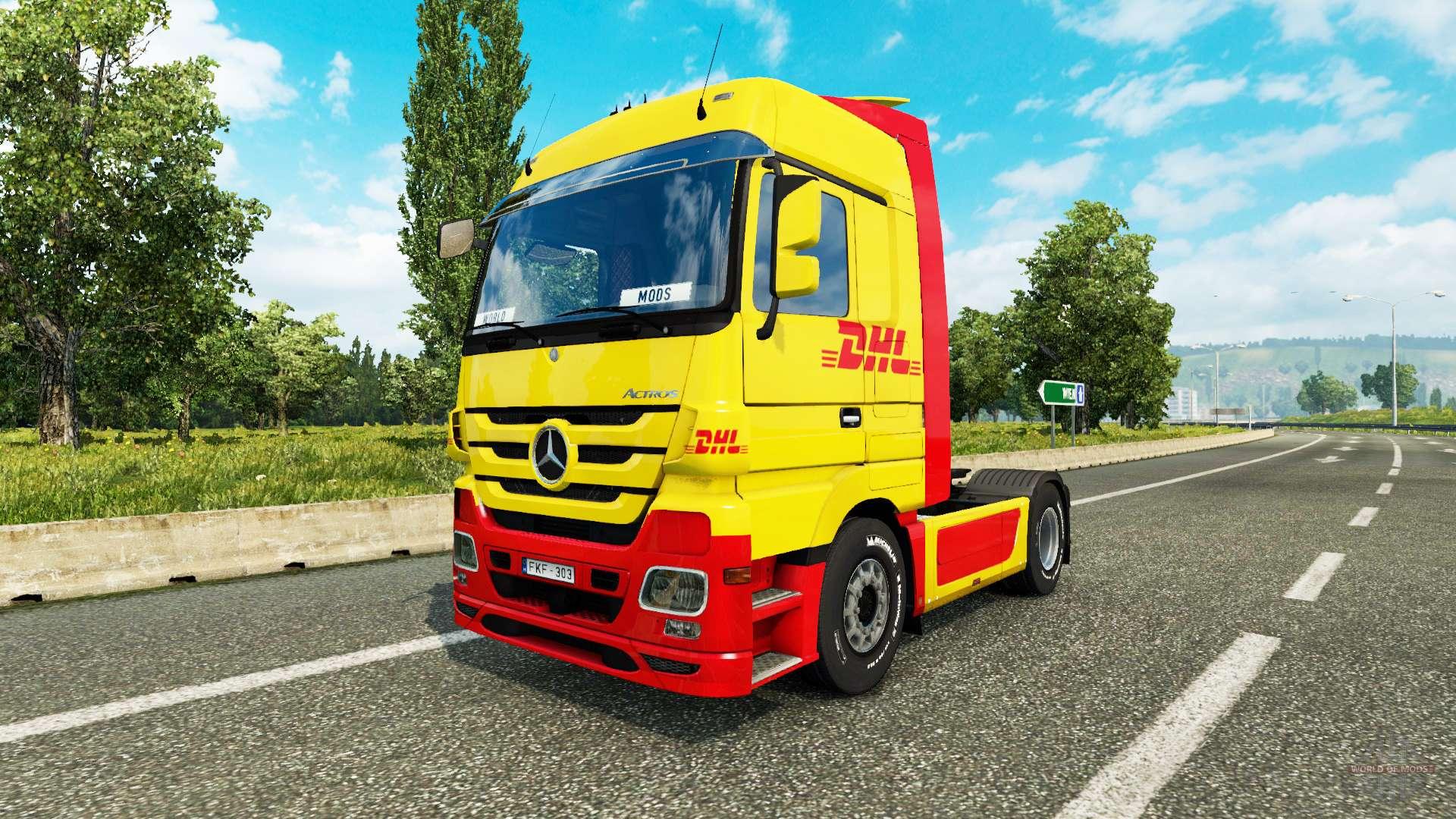 Pele dhl para trator mercedes benz para euro truck simulator 2 for Mercedes benz euro