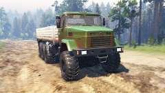 KrAZ 7140 v1.2 para Spin Tires