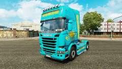 A pele Cazaquistão para trator Scania