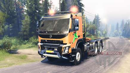 Volvo FMX 500 6x6 para Spin Tires