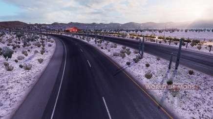 Gelado no inverno a v2.1 para American Truck Simulator