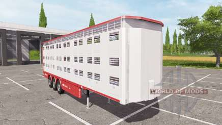 Michieletto livestock trailer v1.1 para Farming Simulator 2017