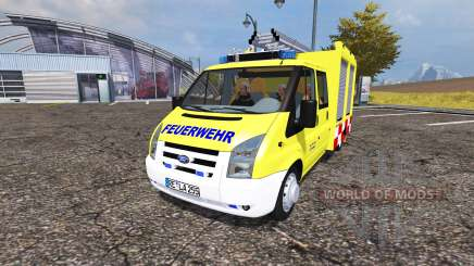 Ford Transit feuerwehr para Farming Simulator 2013